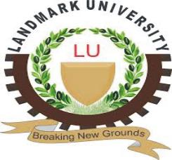 landmark university log