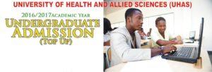 UHAS Undergraduates Admission (TOP - UP)